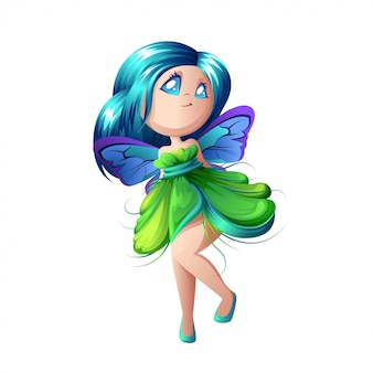 Красивая лесная фея с крыльями.