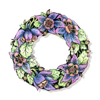 花の花輪。