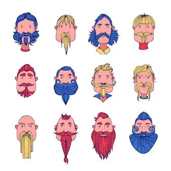ひげを持つ男性。