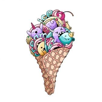 モンスターアイスクリーム。