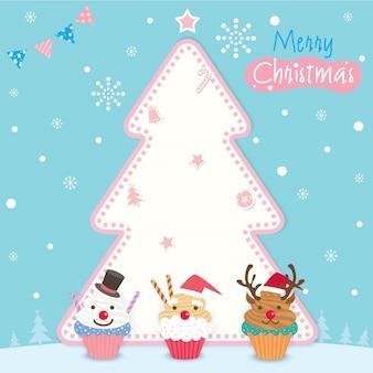 クリスマスカップケーキの木