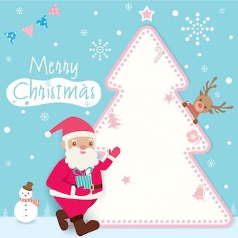 クリスマスサンタの背景