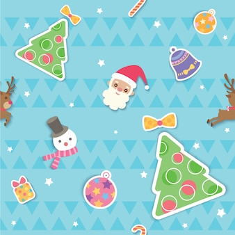 クリスマスオーナメントシームレスパターン