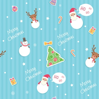 クリスマスシームレスパターン