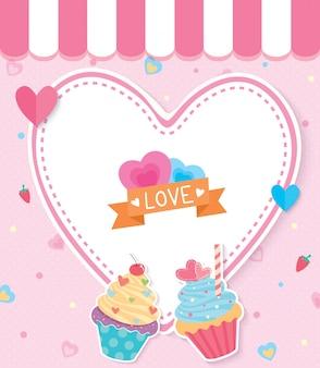 カップケーキの愛