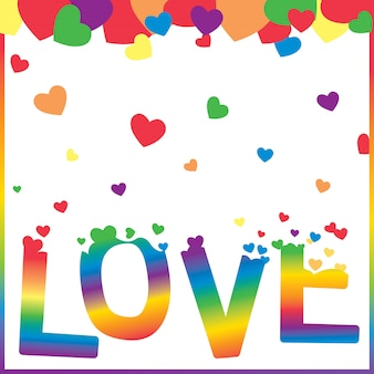 Любовь-сердце-радуга