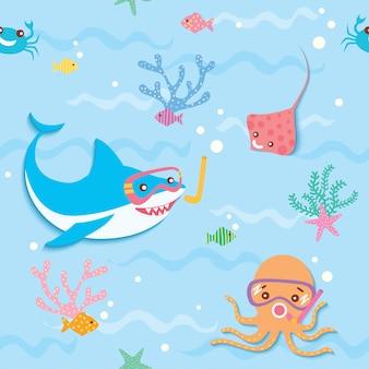 Подводный бесшовный фон