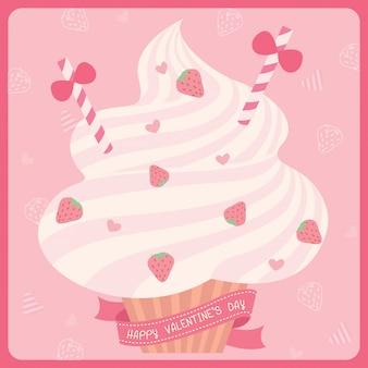 バレンタインデーのカップケーキ