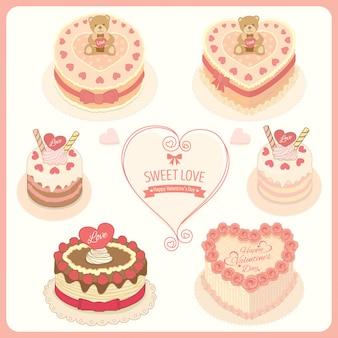 バレンタインデーの恋人ケーキをベクトルします。