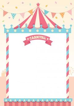 Карнавальный пастельный шаблон