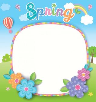 春の自然のテンプレート