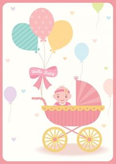女の赤ちゃんシャワー風船