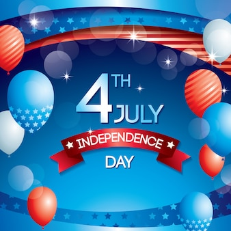独立記念日の背景バルーン