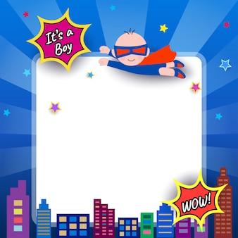 ベビーシャワースーパーヒーロー
