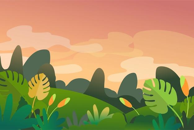 Весенний и летний пейзажный фон