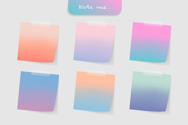 Набор различных цветов к сведению документы и элементы ленты.