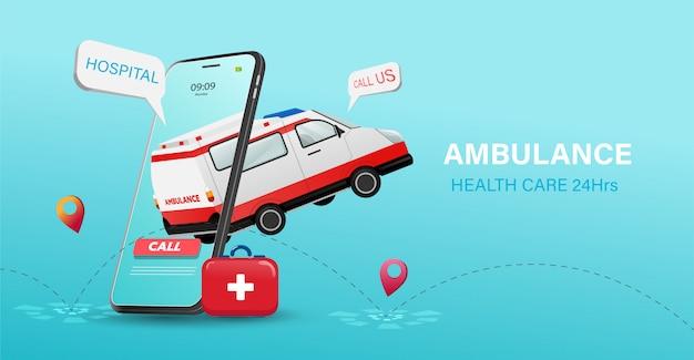 Онлайн служба здравоохранения на мобильной концепции. современные медицинские технологии.