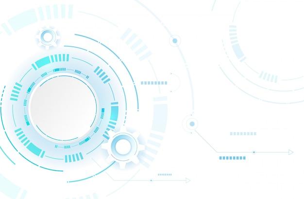 青白の抽象的な技術の背景。