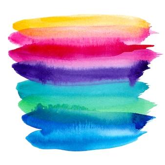水彩のカラフルな虹の背景