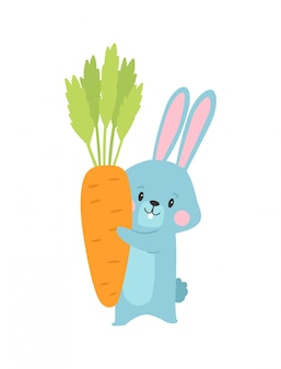 ウサギの漫画イラスト