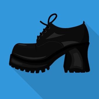 Короткое изолированных плоский значок женщина обувь вектор