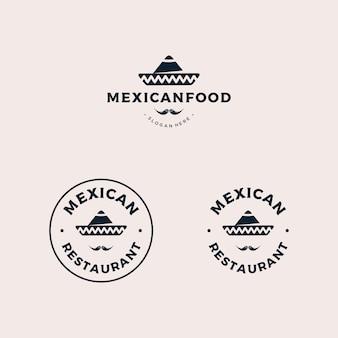 メキシコ料理レストランのバッジのロゴ
