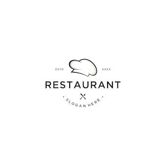 レストランのロゴデザインベクトル図