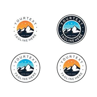 Установите дизайн логотипа значок горы