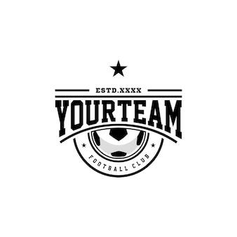 サッカークラブのロゴデザインベクトル図