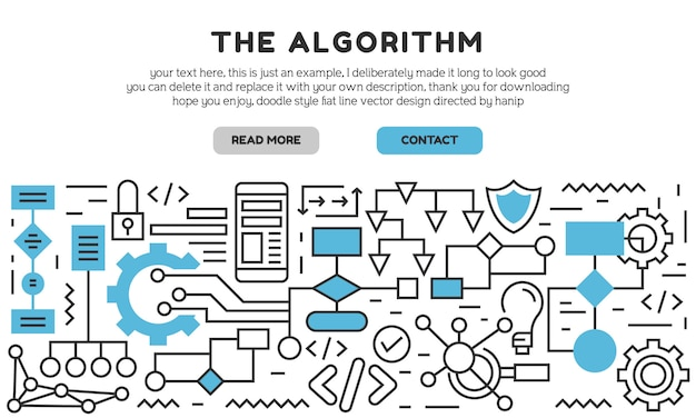アルゴリズムのランディングページ