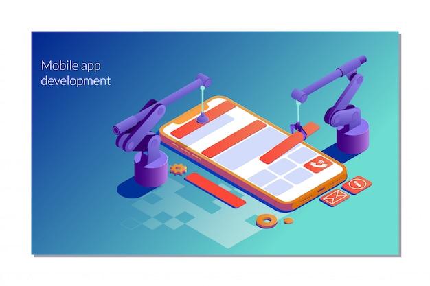 デザインウェブサイトの概念のアプリケーションの開発