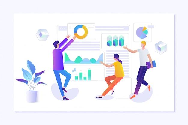 ウェブサイトのためのウェブページデザインを作る人々