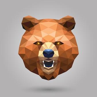 幾何学的なクマ