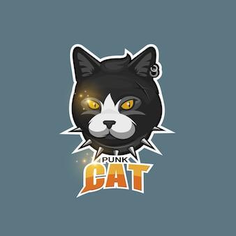 Логотип панк кошка