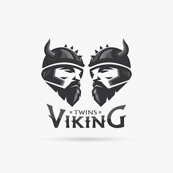 双子のバイキングヘッド