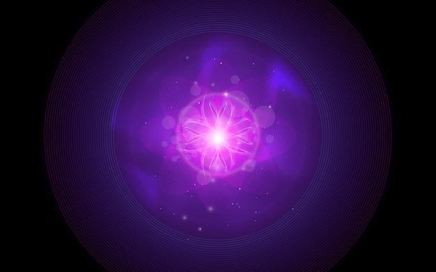 抽象的な紫の花のイラスト