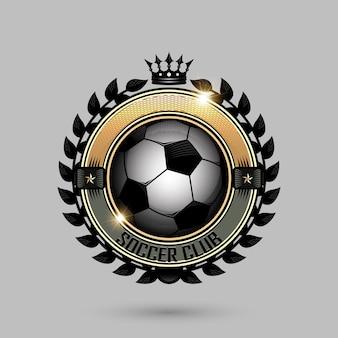 王冠を持つサッカーのエンブレム