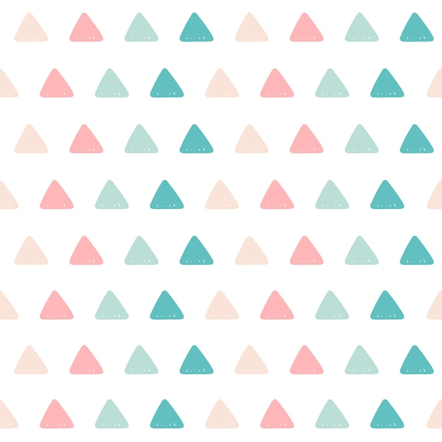 三角形のパターンの背景。