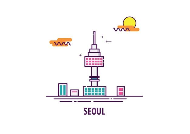 Сеулская башня в южной корее