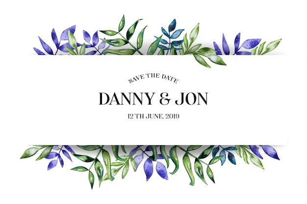 Романтическое свадебное приглашение