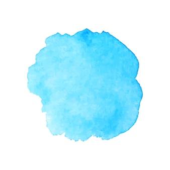 美しい青い水彩画スプラッシュ