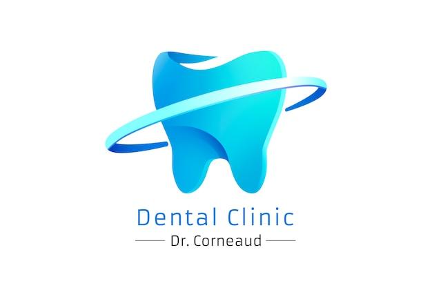 歯科医院のグラデーション現代ロゴ、