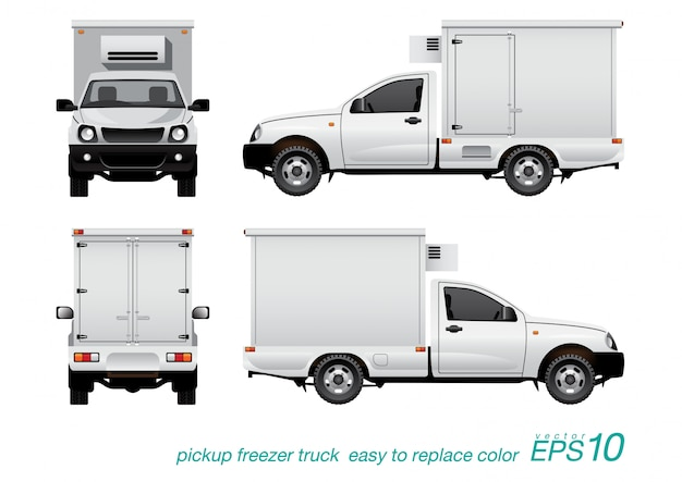 ピックアップ冷凍トラック。