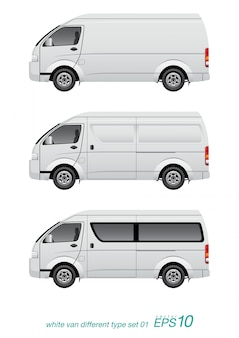 Белый фургон разного типа