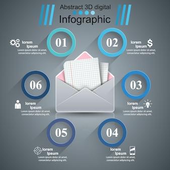 Почтовый бизнес-инфографика