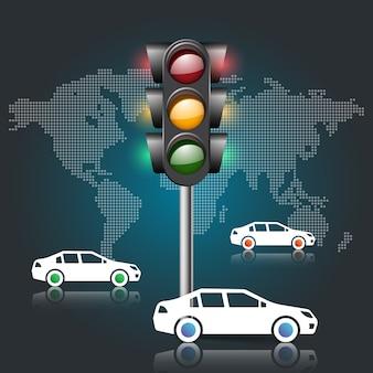 交通ライトのイラスト