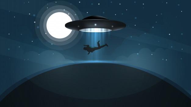 Нло похищает человека - мультфильм иллюстрации