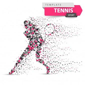 大きなテニスドットイラスト