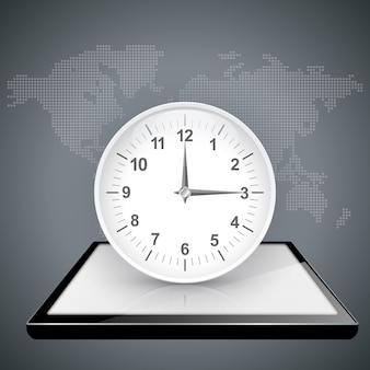 時計、デジタルガジェットを見る。