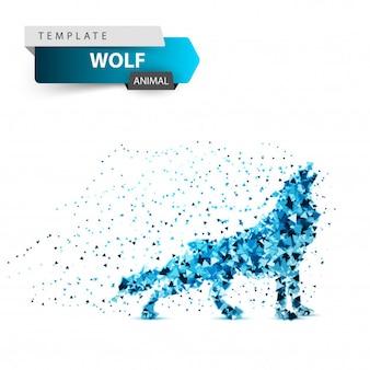 アイスオオカミの狼男 - ドットイラスト